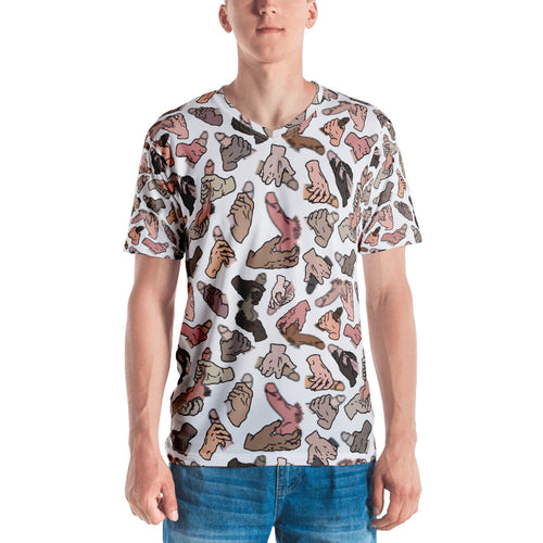Skin-colored Pixelated Penis All-over T-shirt - Big Gay Store