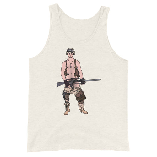 Guy Got His Gun Tank Top - Big Gay Store