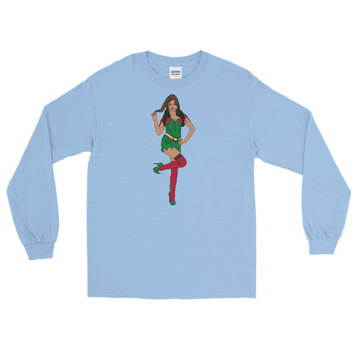 Sexy Female Elf Long Sleeve T-Shirt - Big Gay Store
