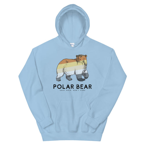 Gray Hair Don't Care Polar Bear Hoodie - Big Gay Store