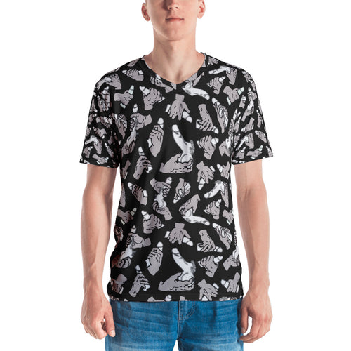 White Pixelated Penis All-over T-shirt - Big Gay Store