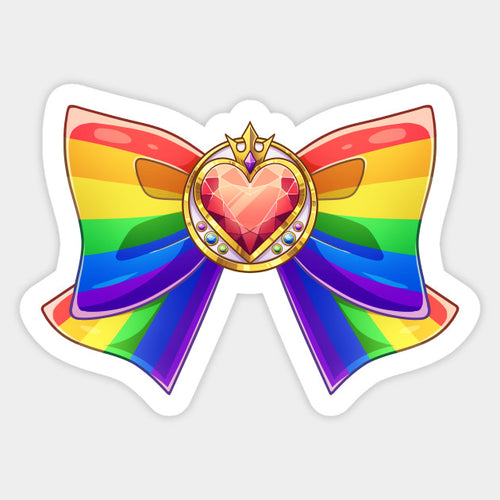 Rainbow Bow Decal Sticker - Big Gay Store
