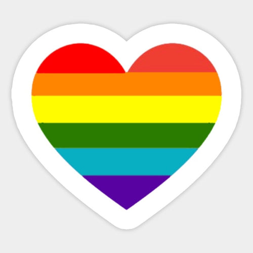 Rainbow Heart Decal Sticker - Big Gay Store