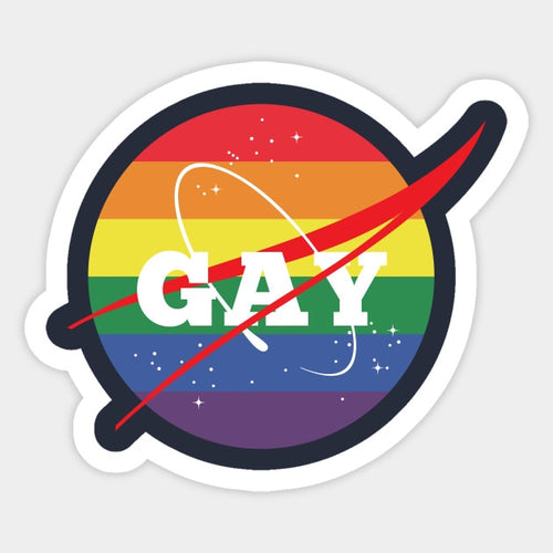 Gay Nasa Decal Sticker - Big Gay Store