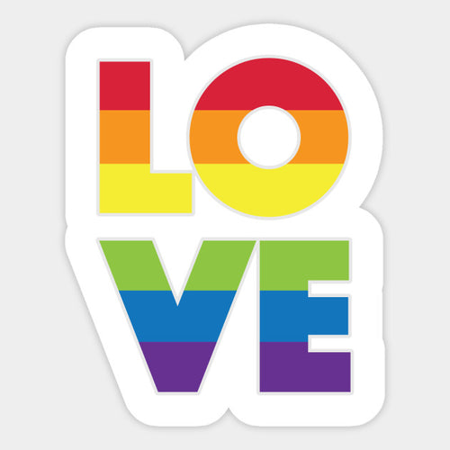 Love Rainbow Decal Sticker - Big Gay Store
