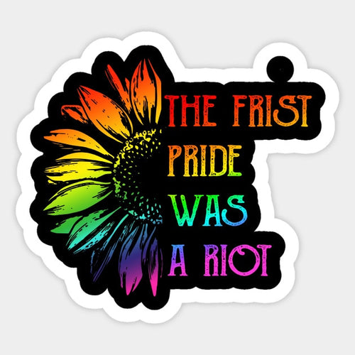 1st Pride Was A Riot Decal Sticker - Big Gay Store