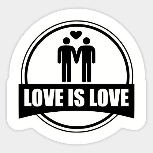 Circular Love is Love Decal Sticker - Big Gay Store