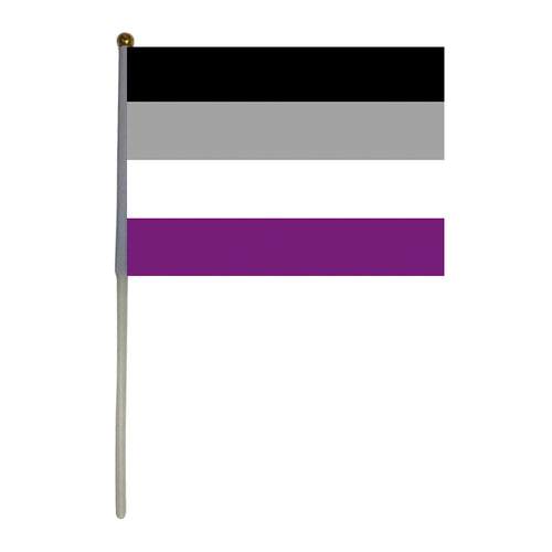 100 Asexual Hand Flags - 5.5