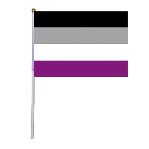 50 Asexual Hand Flags - 5.5