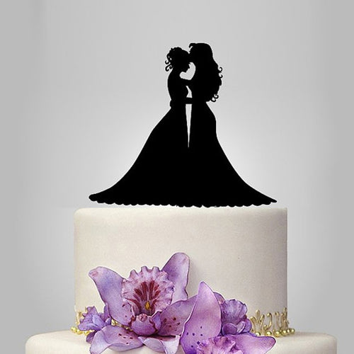 Brides Dress Embrace Cake Topper - Big Gay Store