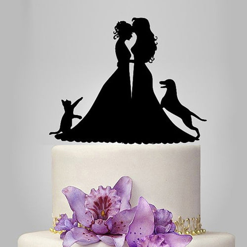 Brides Dog and Cat Cake Topper - Big Gay Store