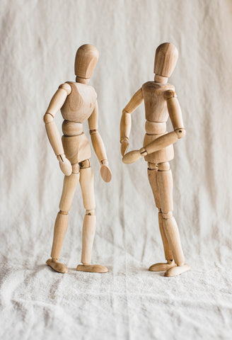 Wooden poseable figures