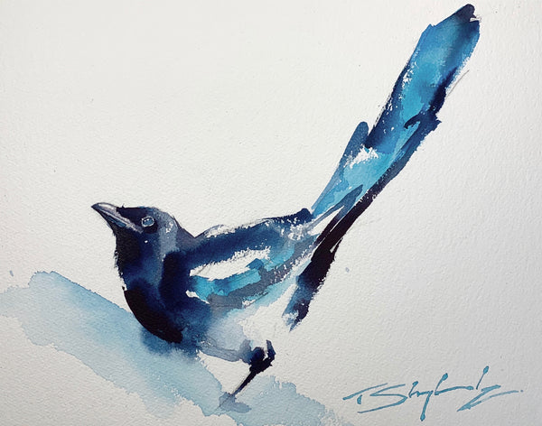 Magpie Watercolour - Original Painting
