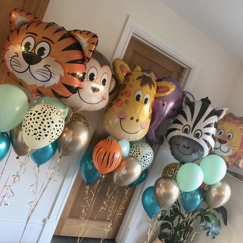 Animal head foil balloons