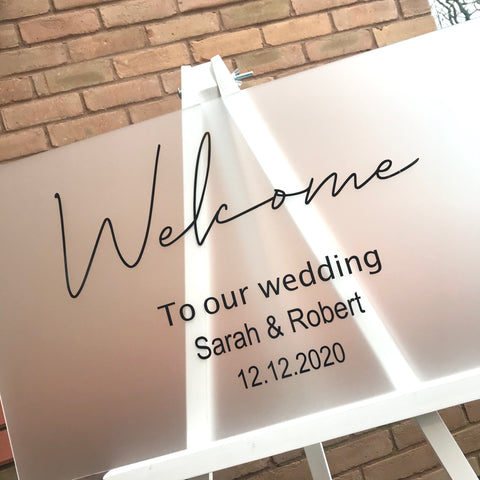 Frosted Acrylic Welcome Sign