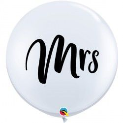 White 'Mrs' giant balloon