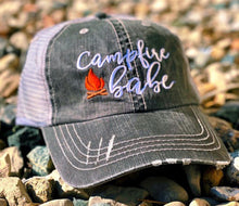 Load image into Gallery viewer, Campfire Babe Trucker Hat -Assorted Colors