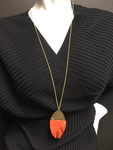 Necklace Leather Pendent