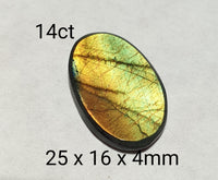 14ct Genuine Finnish Spectrolite freeform cabochon - Brighton Gemstones