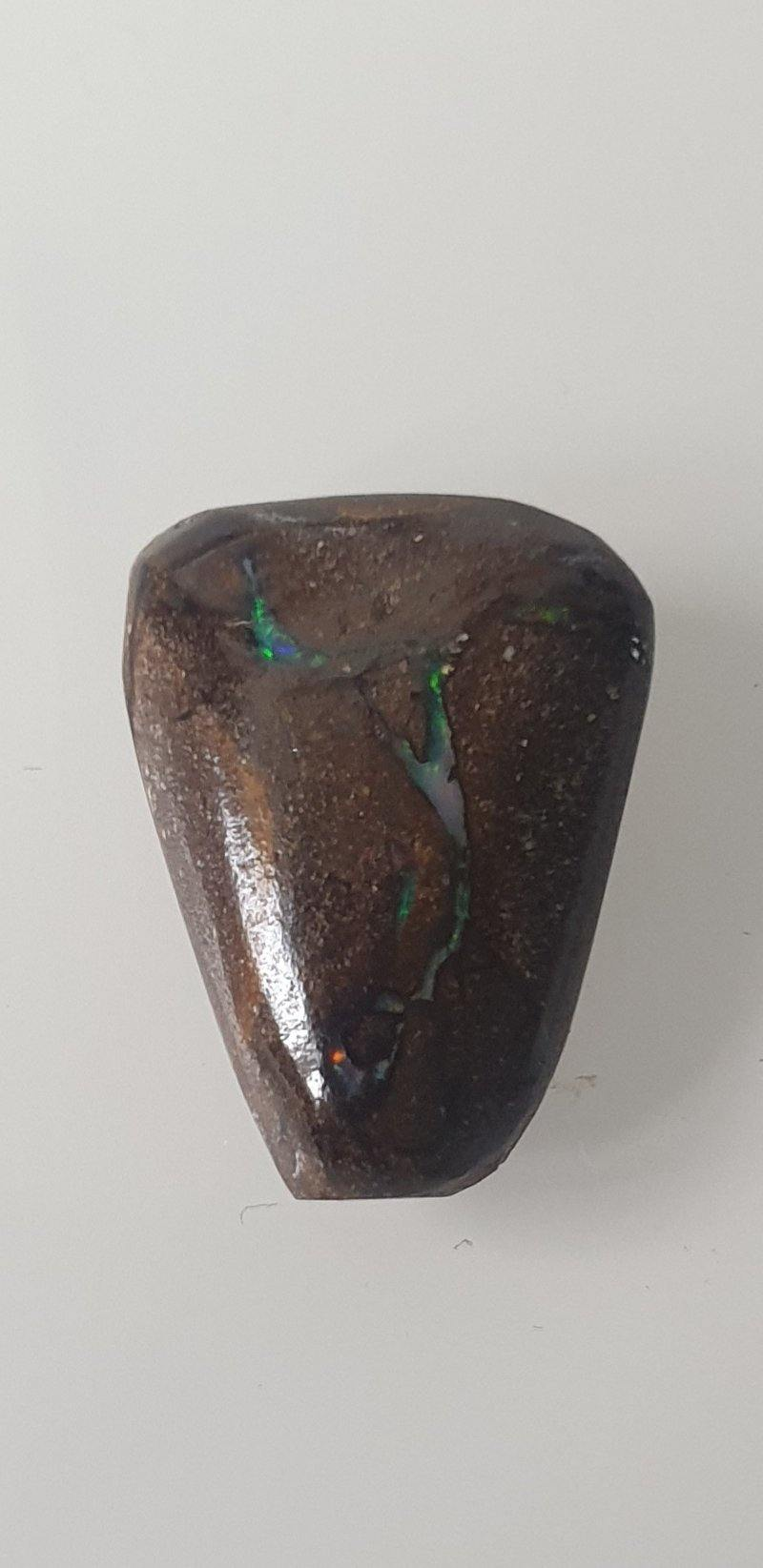 7.2 ct Matrix Boulder opal freeform cabochon - Brighton Gemstones