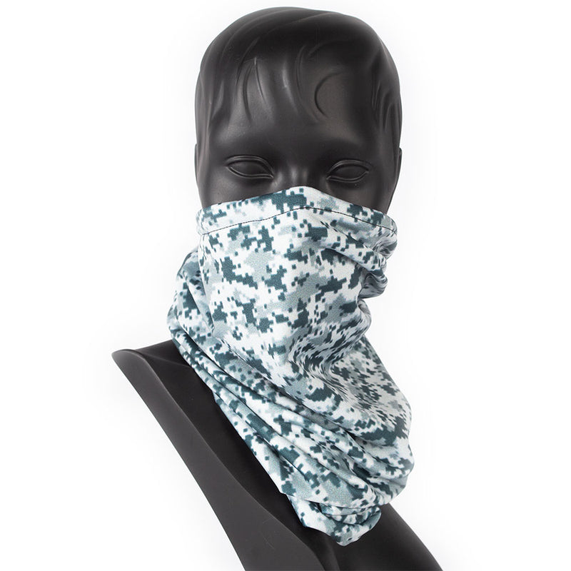 DRAWSTRING BUFF - CAMO - GREY SNOW