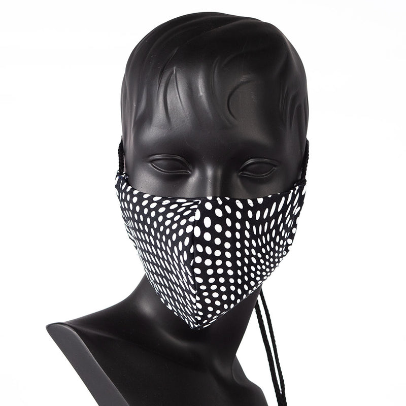 MASK - DOTTS - BLACK WITH WHITES