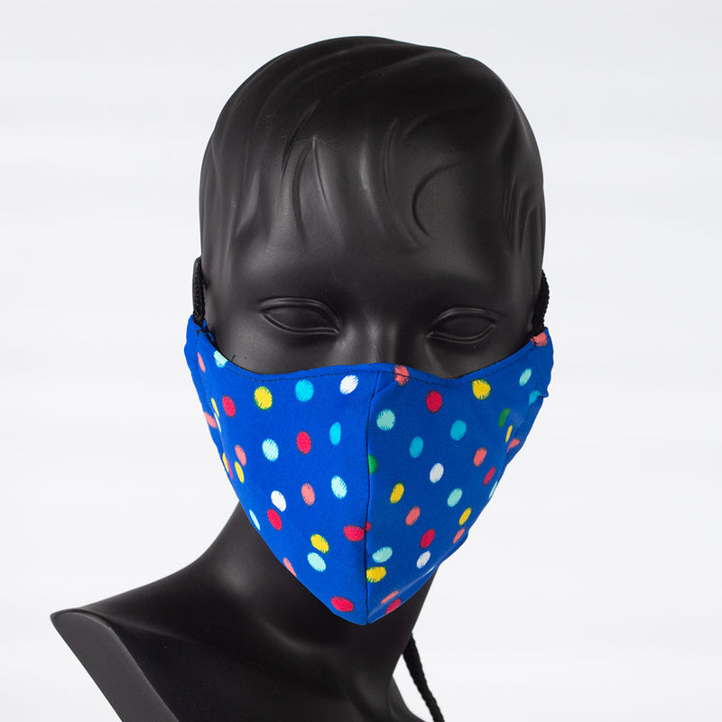 MASK - POLKA DOTS - BLUE
