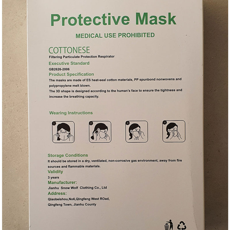 KN95 Masks (sold in 10 or 20 units)