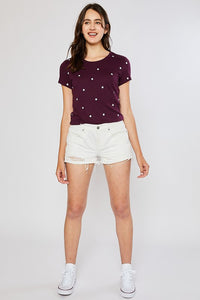 Baylee Star T-shirt- Plum