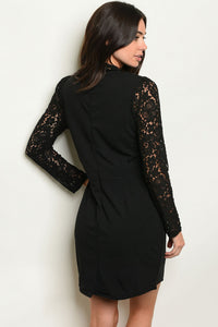 Lauren Black Lace Detail Dress