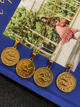 Load image into Gallery viewer, Horoscope Gold Coin Necklace