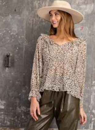 Lilly Animal Print Blouse