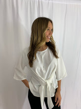 Load image into Gallery viewer, Avery White Waist Tie Blouse