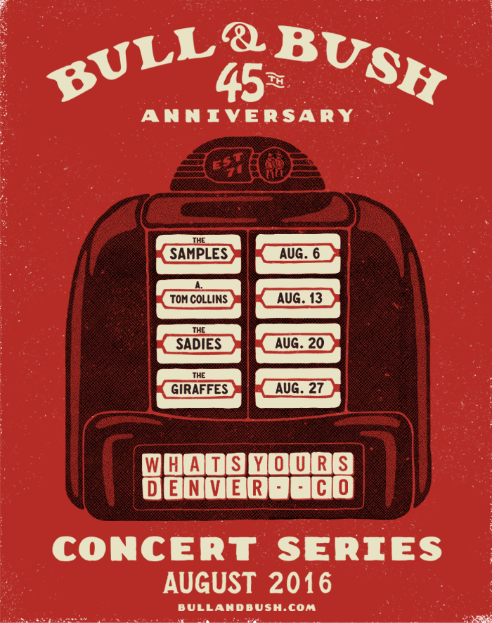 Bull & Bush 45th Anniversary Celebration - August 2016 - 4 Saturdays/4 Concerts