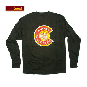 "Product Image - Bull & Bush Brewery Long Sleeve T-Shirt with ""C"" logo on front and back"