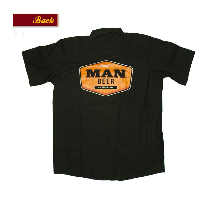 Product Image - Button Down Work Shirt - Bull & Bush Brewery logo on front pocket,