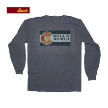 Load image into Gallery viewer, Product Image - Bull & Bush Brewery Long Sleeve T-Shirt with Colorado flag theme branding screen-printed front and back