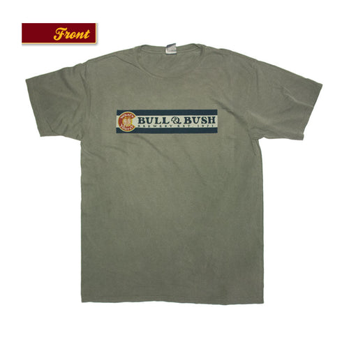 Product Image - Bull & Bush Brewery Short Sleeve T-Shirt with Colorado flag theme branding screen-printed front and back