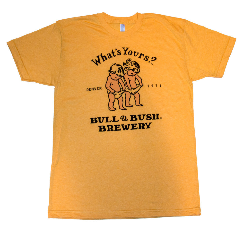 Product Image - T-Shirt - two-color screen-print on the front inspired by our legendary Bull & Bush Brewery poster