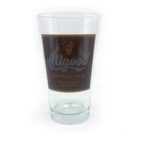 Bull & Bush® Brewery - Allgood Amber Ale Pint Glass