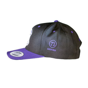 "Product Image - Hat - Bull & Bush Brewery ""C"" logo on front, ""What's Yours?"" on back, ""71 Denver"" on side."