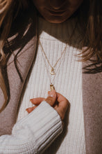 Load image into Gallery viewer, Handmade gold plated moon necklace