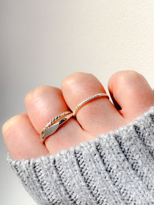 Handmade Textured Stacking Band Ring