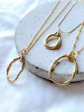 Load image into Gallery viewer, Handmade Gold Vermeil Molten Teardrop Necklace