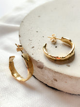 Load image into Gallery viewer, Handmade Unique Molten Hoop Earrings