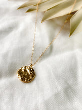 Load image into Gallery viewer, Handmade Gold Vermeil Molten Coin Necklace