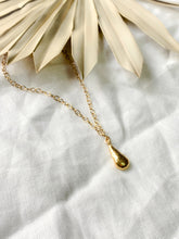 Load image into Gallery viewer, Handmade Premium Gold Vermeil Solid Teardrop Pendant