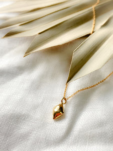 Handmade Gold Vermeil Mini Diamond Shaped Necklace