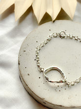 Load image into Gallery viewer, Handmade Sterling Silver Molten Hoop Bracelet