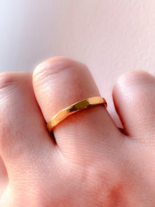 Classic Hammered Simple Band Ring